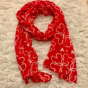 Accessories - NWOT Red/white Mickey Mouse Scarf